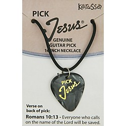 Kerusso Pick Jesus Necklace (GPNBLK)