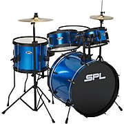 Sound Percussion Labs Kicker Pro - 5 Piece Drum Set with Stands, Cymbals, and Throne