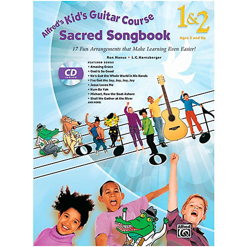Alfred Kid's Guitar Course Sacred Songbook 1 & 2 (Book/ CD)-thumbnail