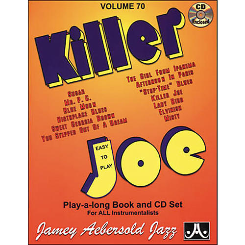 Jamey Aebersold Killer Joe Play-Along Book with CD-thumbnail