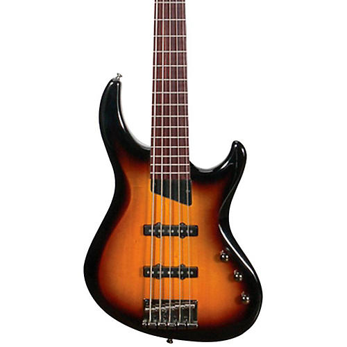 MTD Kingston Saratoga 5-String Electric Bass Guitar Transparent Black Maple Fingerboard-thumbnail