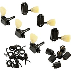 Kluson KB3L Keystone Locking Guitar Tuning Machines - 3-Per-Side Bolt Bushing (TPKB3L-B)
