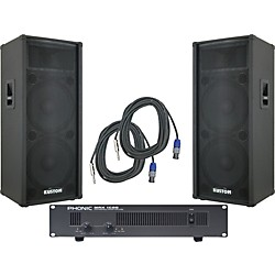 Kustom KPC215H / Phonic MAX 1600 Spr & Amp Package (KIT - 584993)
