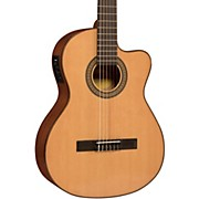 Lucero LC150Sce Spruce/Sapele Cutaway Acoustic-Electric Classical Guitar