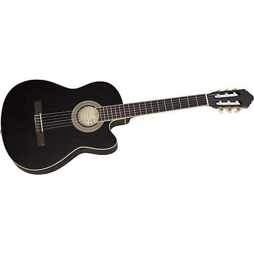 Lucero LCT250CE Thinline Cutaway Acoustic-Electric Classical Guitar