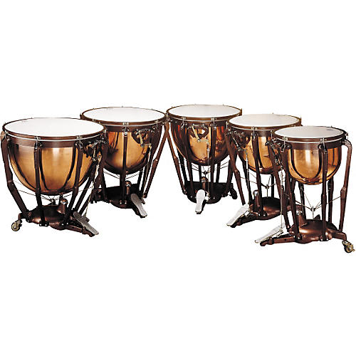 Ludwig LKP505PG Professional Polished Copper Timpani Set of 5