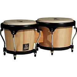 LP LPA601 Aspire Oak Bongos with Black Hardware (LPA601-AW)