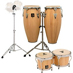 LP Natural Aspire Conga Set with Bongos and Stand (Amazon K2 convert-443265)