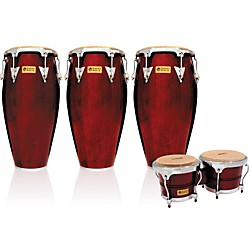 LP Performer Series 3-Piece Conga and Bongo Set with Chrome Hardware (LPP3B-DWC)