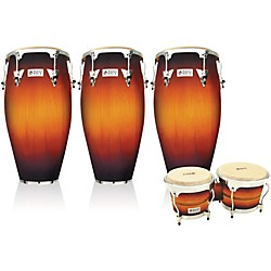 LP Performer Series 3-Piece Conga and Bongo Set with Chrome Hardware (LPP3B-SBC)