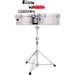 LP Prestige Series Stainless Steel Timbales (LP1314-S)