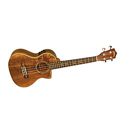 Lanikai Curly Koa Series CK-TEK Tenor Ukulele with Fishman Kula Electronics (USED004000 CK-TEK)