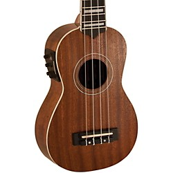 Lanikai Soprano All-Mahogany Acoustic-Electric Ukulele with USB (LMU-S)