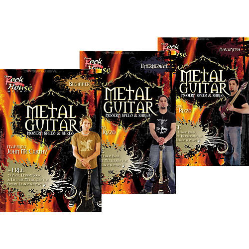 Rock House Learn Metal Guitar Beginner, Intermediate, & Advanced Package-thumbnail