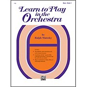 Alfred Learn to Play in the Orchestra Book 1 Bass