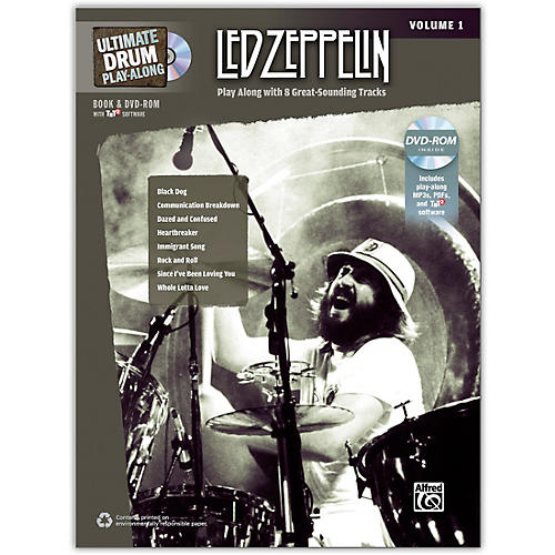 Alfred Led Zeppelin Ultimate Play Along Drums Volume 1 with 2 CD's-thumbnail