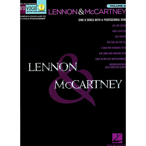 Hal Leonard Lennon & McCartney Vol 4 - Pro Vocal Songbook & CD Volume 25