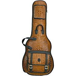 Levy's 'Crocodile' Leather Electric Guitar Gig Bag (LSM18CR-TAN)