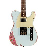 Fender Custom Shop Limited Edition '60s Telecaster HS - Sonic Blue over Pink Paisley
