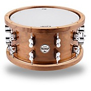 PDP Limited Edition Dark Stain Walnut and Maple Snare with Walnut Hoops and Chrome Hardware