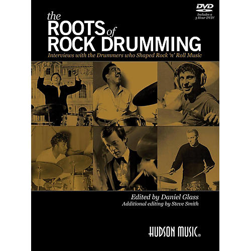 Hudson Music Limited Edition Roots of Rock Drumming Book/DVD Signed by Steve Smith-thumbnail