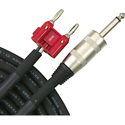 "Livewire Elite 12-Gauge 1/4"" Banana Speaker Cable (S12BQ25-LW)"