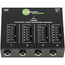 Livewire HA04 4-Channel Stereo Headphone Amplifier (HA04)