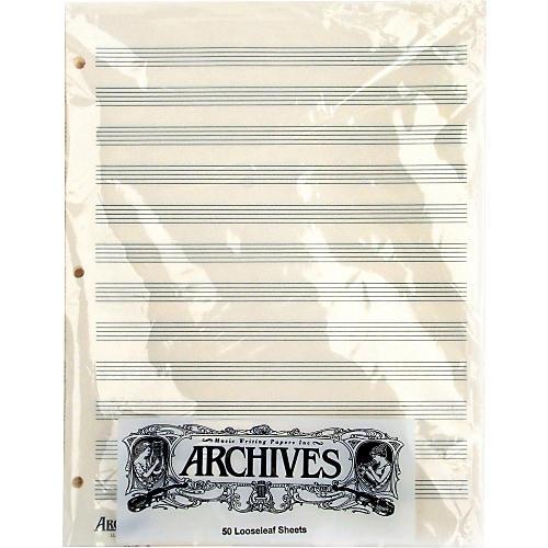 Archives Loose Leaf Manuscript Paper