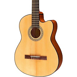 Lucero LC100CE Acoustic-Electric Cutaway Classical Guitar (LC100CE)
