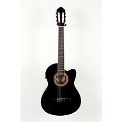 Lucero LCT250CE Thinline Cutaway Acoustic-Electric Classical Guitar (USED007050 LCT250CEBK)