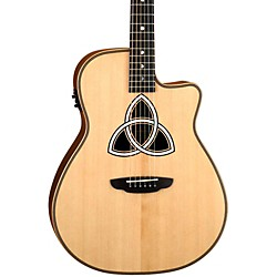 Luna Guitars Artist Series Trinity Folk Cutaway Acoustic-Electric Guitar (LUNI TRI)