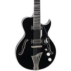 Luna Guitars Athena Sun Semi-Hollowbody Electric Guitar (ATH HBG BLK)