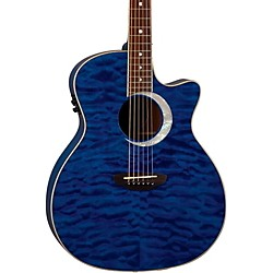 Luna Guitars Fauna Eclipse Grand Concert Acoustic-Electric Guitar (FAU ECL TBL)