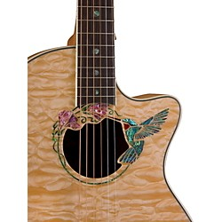 Luna Guitars Fauna Hummingbird Parlor Acoustic-Electric Guitar (FAU HUM)