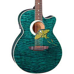 Luna Guitars Fauna Series Folk Acoustic-Electric Guitar (Fau Lunamoth)