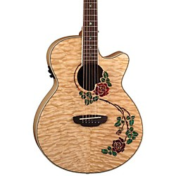 Luna Guitars Flora Rose Folk Acoustic-Electric Guitar (FLO RSE)