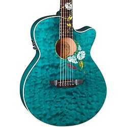 Luna Guitars Flora Series Custom Folk Acoustic Electric Guitar (Flo Moon Custom)