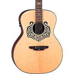 Luna Guitars Grand Concert Celtic-Themed Acoustic-Electric Guitar (Cel Swan)