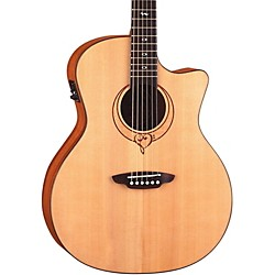Luna Guitars Heartsong Grand Concert Acoustic Electric Guitar With USB (Song GC)