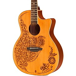 Luna Guitars Henna Oasis Cedar Series II Acoustic-Electric Guitar (HEN O2 CDR)