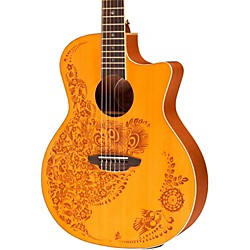Luna Guitars Henna Oasis Spruce Series II Nylon String Acoustic-Electric Guitar (HEN O2 NYL)