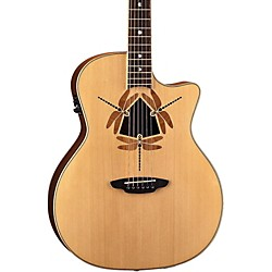 Luna Guitars Oracle Dragonfly Grand Concert Cutaway Acoustic-Electric Guitar (OCLDFY)
