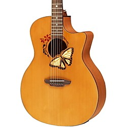 Luna Guitars Oracle Grand Concert Series Butterfuly Acoustic-Electric Guitar (OCL BTF)