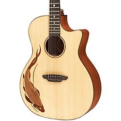 Luna Guitars Oracle Grand Concert Series Koi Acoustic-Electric Guitar (OCL KOI)