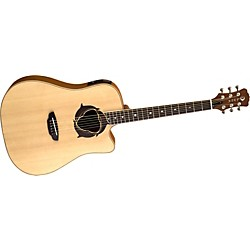 Luna Guitars Oracle Series Dolphin Dreadnought Cutaway Acoustic-Electric Guitar (OCL DPN)