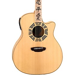 Luna Guitars Oracle Series Zen Grand Auditorium Cutaway Acoustic-Electric Guitar (OCL ZEN)