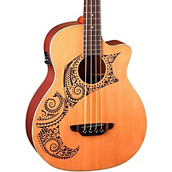 Luna Guitars Tattoo Cedar Acoustic-Electric Bass (LAB 34 TAT CDR)
