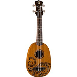 Luna Guitars Tattoo Pineapple Soprano Ukulele (UKE TATTOO)