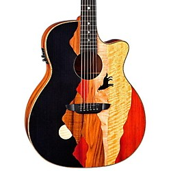 Luna Guitars Vista Wolf Cocobolo Back and Sides Acoustic Electric Guitar (Vista Wolf w/case)