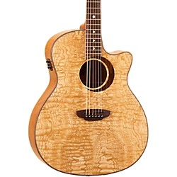 Luna Guitars Woodland Series Quilted Ash Acoustic-Electric Guitar (WL ASH)